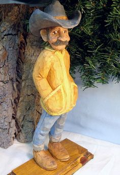 Cowboy or Rancher caricature. OOAK hand by WeAreOutofOurGourds, $95.00