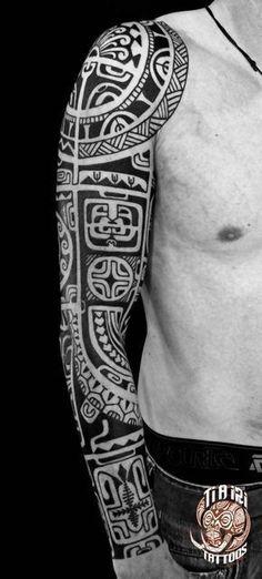 Polynesian Sleeves / Arm Tattoos - Po'oino Yrondi Po'oino Yrondi #marquesantattoosart #tattoosmensarms