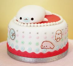 Cutest WHALE cake- This would be so adorable at a baby shower...