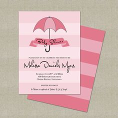 Sweet Baby Shower Invitations - Baby Girl