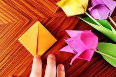 herzanhirn.de: origami tulpen