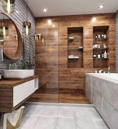 21 Modern And Stylish Bathroom Design Ideas Contemporary Bathroom Designs, Bathroom Design Luxury, Modern Bathroom Design, Bedroom Modern, Bad Inspiration, Bathroom Inspiration, Bathroom Renos, Small Bathroom, Dream Bathrooms