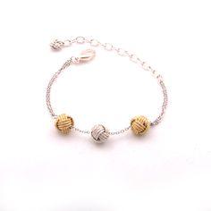 Triple Knot Ball Bracelet