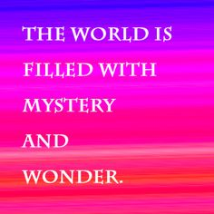 Wonder, wonder, ... who