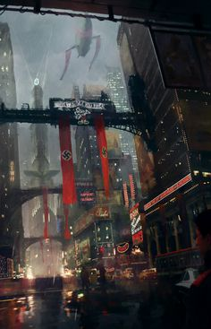 ArtStation - The Man in the High Castle, Luis Guggenberger - Esare Poyna Man High Castle, Dark Castle, Alternate Worlds, Alternate History, Wolfenstein, Antique Illustration, Environment Concept Art, Science Fiction Art, Military Art