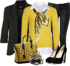 Bee Colored Bag III by stylesbyjoey, via Polyvore