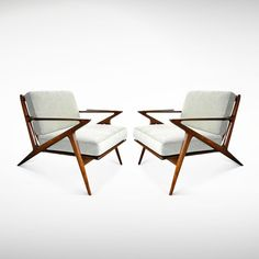 """Poul Jensen for Selig """"Z"""" Chairs 