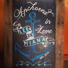 Anniversary Chalkboard #nautical