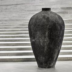 Terracotta+Krukke+Luna+Sort+130cm