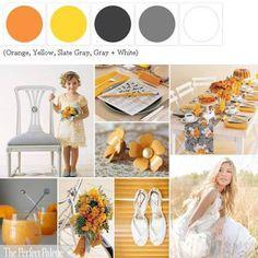 {Orange Crush}: A Palette of Orange, Yellow, Shades of Gray + White