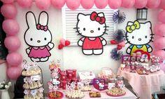 Hello Kitty Birthday Kitty Pink Cumpleaños temático Hello Kitty