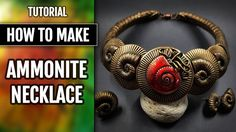 NEW TUTO! How to Make Faux Ammonite Necklace, Earrings and Ring!