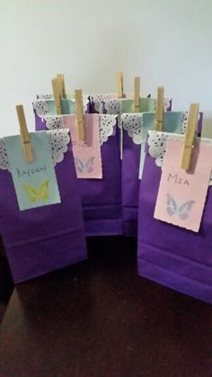 Butterfly loot bags