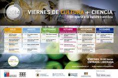 Programación segundo semestre 2014 Viernes de Cultura + Ciencia en @museofonck de #VIÑA