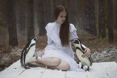 Dreamy And Majestic Beauty Of Girls Photographed With Real Wild Animals Dream Photography, Animal Photography, Photoshop, Wildest Fantasy, Surreal Photos, Live Animals, Art Addiction, Poses, Spirit Animal