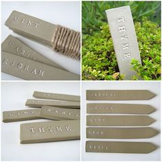 Ceramic Garden Labels Tags Markers Herbs by judeallman on Etsy