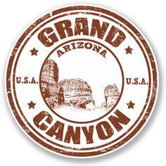 2 X Grand Canyon Arizona Usa Vinyl Sticker Ipad Laptop Travel Luggage Gift Grand Canyon Arizona, Arizona Usa, Grand Canyon National Park, Passport Template, Travel Stamp, World Thinking Day, Photoshop, Tampons, Grafik Design