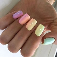 On average, the finger nails grow from 3 to millimeters per month. If it is difficult to change their growth rate, however, it is possible to cheat on their appearance and length through false nails. Summer Acrylic Nails, Best Acrylic Nails, Hair And Nails, My Nails, Unicorn Nails Designs, Instagram Nails, Instagram Posts, Instagram People, Long Nails