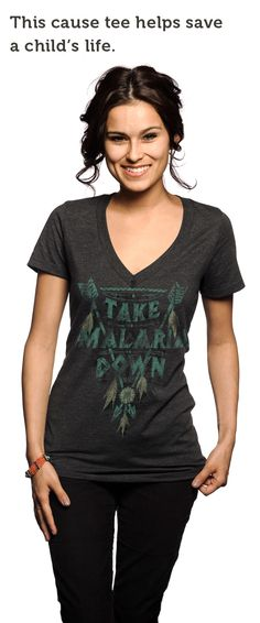 Did you know malaria kills a child every 30 SECONDS? Does your favorite #graphic tee provide a life saving mosquito net for a child in #Africa? This one does --> http://svnly.org/PinLink