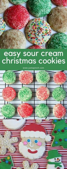 Easy sour cream Christmas cookies recipe that's just like mom's recipe! #christmascookies #sourcreamcookies #momrecipes #momsrecipe #christmasrecipes #christmasdesserts