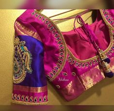 post on Insta ! 🙈😎 All that begins with pink ends well 💞 Ping us on 9884179863 to book an appointment. Pattu Saree Blouse Designs, Blouse Designs Silk, Designer Blouse Patterns, Bridal Blouse Designs, Hand Work Blouse Design, Simple Blouse Designs, Stylish Blouse Design, Simple Designs, Mary Janes