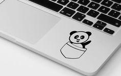 Macbook pro panda vinyl sticker inspirational cute panda decal dope transfer mac…