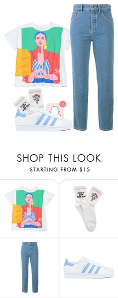 """""""Tumblr girls"""" by kemidubs ❤ liked on Polyvore featuring Yeah Bunny, Chloé and adidas"""