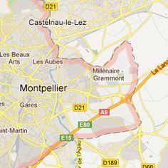 carte Google Map de Montpellier