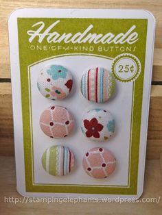 Fabric Button Embellies
