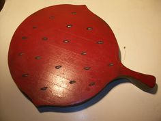 Cutting Board Watermelon large heavy thick by rustyitems on Etsy, $18.00