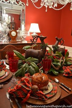 tablescapes ideas | Christmas Tablescape Ideas (40 Pics)