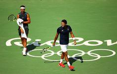 PHOTOS: Rafael Nadal's practice at the Rio Olympics with Tsonga and Gaël Monfils. 5 Aug 2016. Rafa Nadal Vamos Rafa