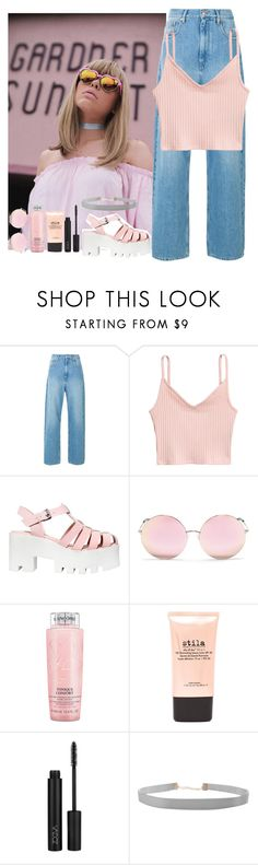 """""""Pink."""" by mbettencourt ❤ liked on Polyvore featuring Windsor Smith, Matthew Williamson, Lancôme, Stila, Humble Chic, cute, Pink, summertime and summerstyle"""