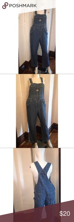 """OLD NAVY Blue Jean Overalls Old Navy blue jean overalls. Soft naturally distressed denim (100% cotton). Bottom of overalls have distressing. Straps are adjustable. Size Medium. Waist measures 16"""" across (right above buttons) inseam is 29"""". Please ask any and all questions prior to purchase. There's is a larger pocket across the chest, 2 front pockets and 2 back pockets. Please ask any and all questions prior to purchase Old Navy Pants"""