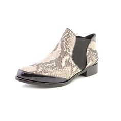 ✂Pour La Victoire CAMERON Snakeskin Ankle Boot Snakeskin-embossed leather upper Side elastic goring Patent leather accents  Padded insole Leather lining and sole Pour la Victoire Shoes