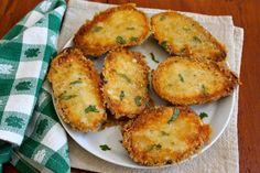 Parmesan crusted potatoes!