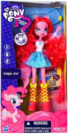 My Little Pony Equestria Girls 9 Inch Doll Pinkie pie. her hair is hard to deal with and apple jack and rainbow dash they have the worst hair.