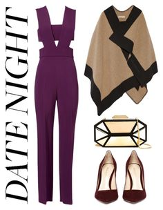 """Datenight."" by pixiesnshit ❤ liked on Polyvore featuring Cushnie Et Ochs, Giuseppe Zanotti, Burberry, DateNight, jumpsuit and contestentry"