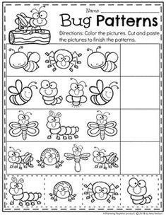 bug sorting worksheet paging supermom preschool preschool worksheets insect activities. Black Bedroom Furniture Sets. Home Design Ideas