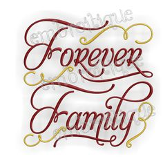 Machine Embroidery Design  Forever Family Home by Embroitique, $2.99
