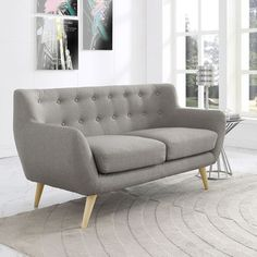 Mid Century Modern Love Seat Living Room Furniture - Assorted Colors - Overstock Shopping - Great Deals on Sofas & Loveseats