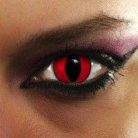 Going on a cat prowl tonight? You'll be on top of your feline game with a new pair of red cat eye contact lenses.