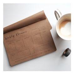 Weekly Planner Pad - Kraft Notepad by WrinkleAndCrease (16.00 CAD) http://ift.tt/1Sa5BvW