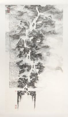 Master of the Water, Pine and Stone RetreatTablescape no. 12 - Drifting Incense Smoke, on cloud-dragon x 75 cm; Landscape Diagram, Art Sites, China Painting, Art Journal Inspiration, Ink Art, Asian Art, Wall Art Decor, Sculpture Art, Illustration