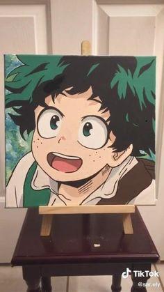 Cute Canvas Paintings, Diy Canvas Art, Anime Drawings Sketches, Cute Drawings, Anime Crafts, Anime Wallpaper Live, Anime Films, Aesthetic Anime, Cute Art