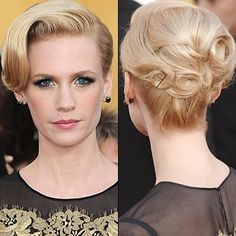updo. I don't like how big the swoop is in the front, but I love the back!