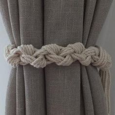Curtain Tie Backs..Set of Two..Nursery Curtain TieBacks..Gypsy | Etsy Beach Curtains, Nautical Curtains, Tassel Curtains, Macrame Curtain, Nursery Curtains, Rustic Curtains, Cotton Curtains, Curtain Tie Backs Diy, Curtain Hangers