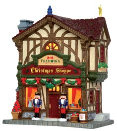 Lemax Fezziwig's Christmas Shoppe.  SKU# 45742 - Released in 2015 as a Lighted Building for the Caddington Collection.