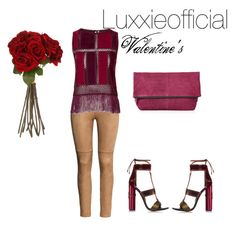 """""""Valentine's"""" by gellnerndudi on Polyvore featuring H&M, Topshop, Tom Ford, Sia, women's clothing, women's fashion, women, female, woman and misses"""