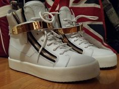 white  Zanotti sneakers 2014